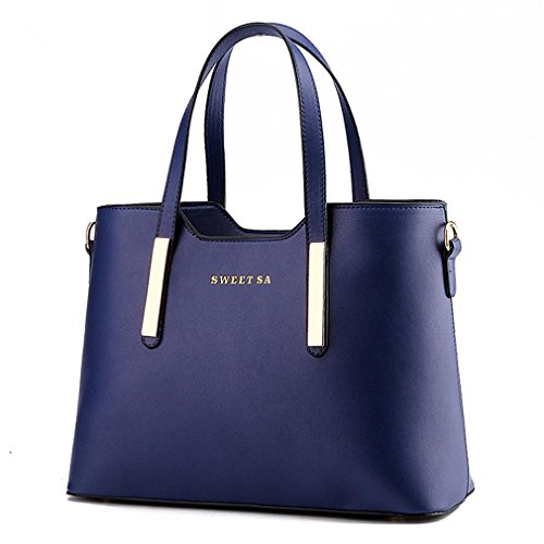 LDMB Bolsos para mujer Bandolera del hombro OL viajero moda mujeres , purple taro deep blue