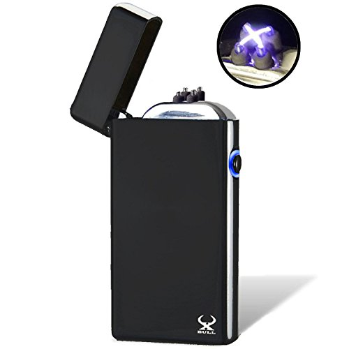 Electronic Wind - USB Lighter X BULL Electronic Lighter, NEW Technology NEW Generation - NO More Narrow Arcs - Plasma Lighter, Wider Arcs, Windproof Arc lighter,  Rechargeable lighter