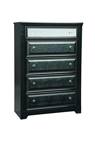 Ashley Furniture Signature Design - Alamadyre Chest of Drawers - 5 Drawers - Contemporary - - Mirrored Chrome Acrylic
