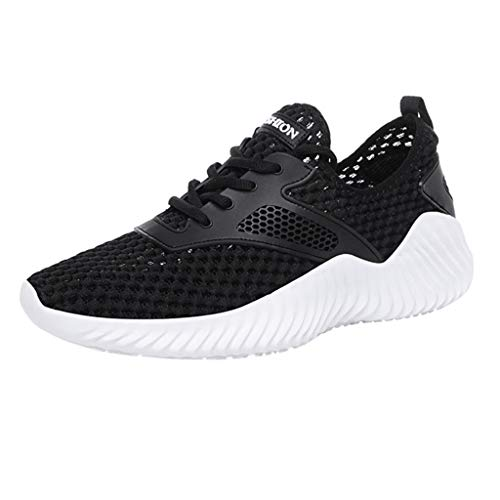 LUCAMORE Running Sports Shoes for Men and Women Breathable Mesh Fashion Casual Sneakers Beige