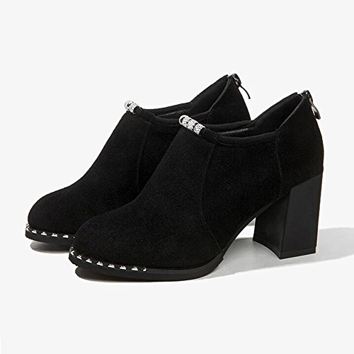 Fufu 1003 Taille uk5 Chaussures L'hiver De En 1001 Bureau Hiver Occasionnel couleur 7 Pour Rond cn38 Carrière À Bout 5 Eu38 5cm Talon Femmes AATUrS