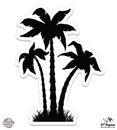 Vinyl Sticker Waterproof Decal Palm Trees Black Cute