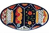 Talavera Oval Serving Platter - 17.50'' x 10'