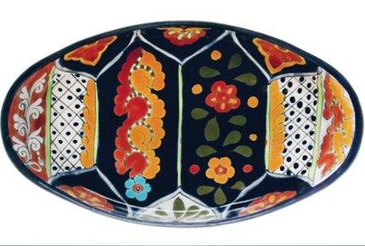 Talavera Oval Serving Platter - 17.50