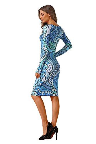 Manches Minces Mode Aiskly Occasionnels Femmes Robes Pour C0018 Robe D'impression