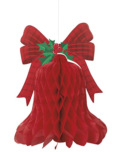 Hanging Honeycomb Bell Holiday Decoration