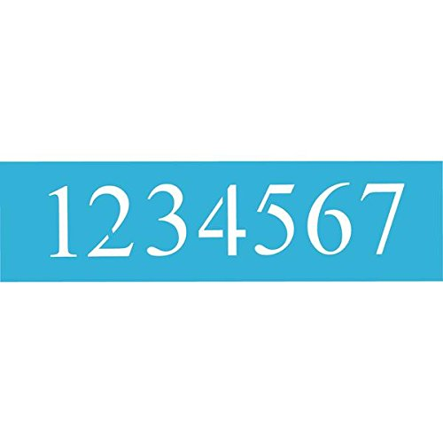 - DecoArt 6-Inch-by-18-Inch Stencil Home Decor Series, 5-Inch Times New Roman Numbers