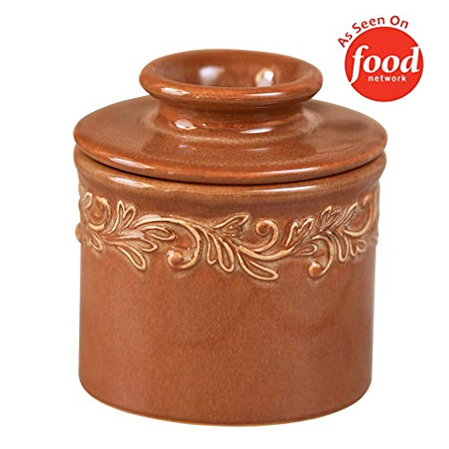 Butter Bell – The Original Butter Bell Crock by L. Tremain, French Ceramic Butter Dish, Antique Collection, Rust