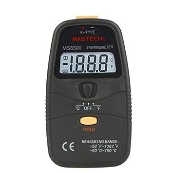 MASTECH ms6500 Termómetro Digital Portátil Medidor de temperatura Sensor Medidor Rango -58 ~ 1382 š H: Amazon.es: Electrónica