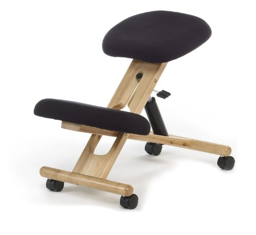 Ergonomic Kneeling Chair , Pneumatic gas lift seat , color black