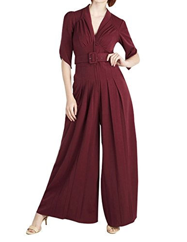 haoduoyi Womens Vintage Sleeve Jumpsuit product image