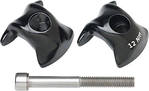 Ritchey Carbon 1-Bolt Seatpost Clamp Kit 7x9.6mm Rails, Black Finish