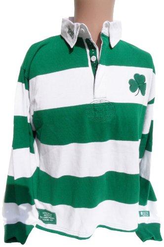 Ireland Striped Rugby Shirt, X-Large - White Boston Celtics Socks