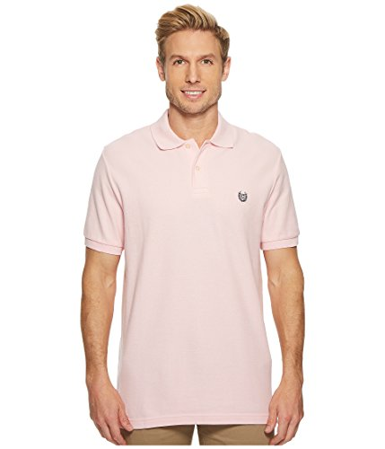 Chaps Men's Core Knit Short Sleeve Polo, Carmel Pink, X-Large
