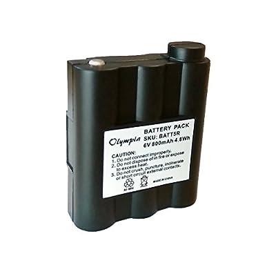 Battery for Midland BATT5R BATT-5R NiMH 6V from BedfordPower