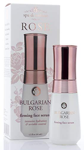 - Spa Di Milano Bulgarian Rose Face serum with Hyaluronic Acid, Vitamin C, Honey, and Green Tea. Anti-aging serum softens the look for wrinkles, expression lines, dark spots, and dry skin.