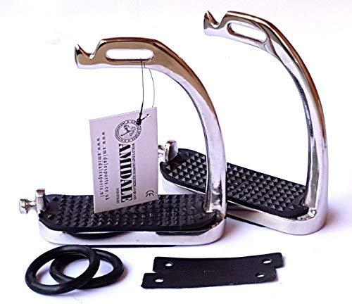 Amidale Peacock Stirrups Horse Equestrian Safety Iron Fillis Stirrups Black...