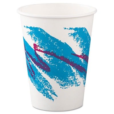 SCC412JZJ Jazz Hot Paper Cups, 12 oz., Polycoated, Jazz Design, 50/Bag