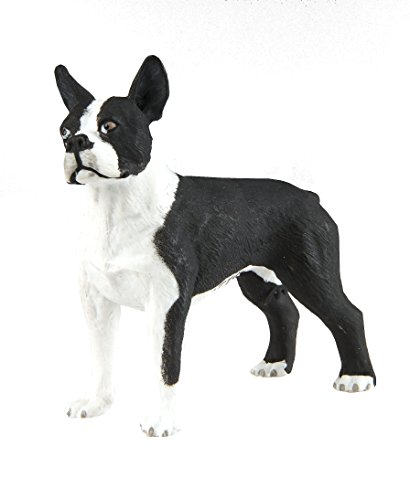 Figurine Terrier (Safari Ltd Best in Show Dogs ?Çô Boston Terrier - Realistic Hand Painted Toy Figurine Model - Quality Construction from Safe and BPA Free Materials - For Ages 3 and Up)