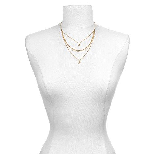 Satya Jewelry Citrine Gold Plate Om Triple Chain Necklace, 20'' by Satya Jewelry (Image #2)