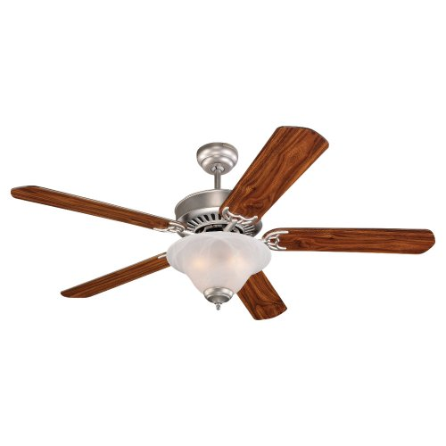 Monte Carlo 5QP52BPD-L Quality Pro Deluxe 52-Inch 5-Blade Ceiling Fan, Brushed Pewter Finish