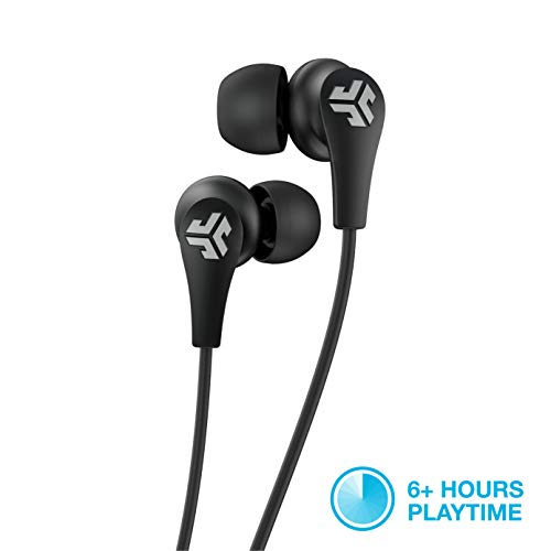 JLab Audio JBuds Pro Bluetooth Wireless Signature Earbuds | Titanium 10mm Drivers | 6-Hour Battery Life | Music Controls | Noise Isolation | Bluetooth 4.1 Extra Gel Tips and Cush Fins | Black