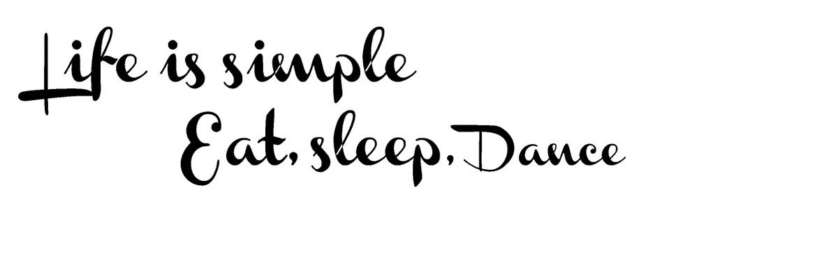 Life is simple Eat Sleep Dance wall quote wall decals wall decals quotes