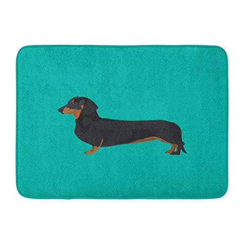 Doormats Bath Rugs Outdoor/Indoor Door Mat Brown Weiner Dachshund Dog Colorful Animal -