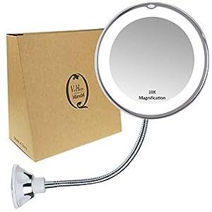 Amazon Com Gooseneck Magnifying Mirror With Light 10x