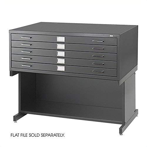 Safco Products 4975BL Flat File High Base for 5-Drawer 4994BLR Flat File, sold separately, - Open Base File