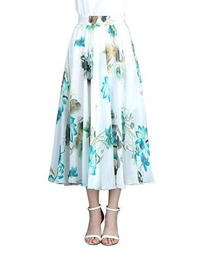Jupe Robe Taille Flower11 lastique Chiffon Boho Dt Femme Casual Beach Plage ZiXing qdBfnxCUq