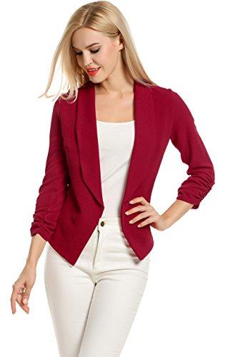 POGT Sleeve Blazer Cardigan Jacket