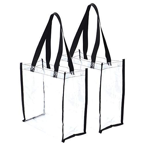 - Clear Tote Bag Stadium Approved Clear Bag Perfect for Work Sports Games Shopping 12
