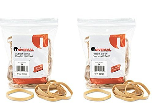 UNIVERSAL OFFICE PRODUCTS, Rubber Bands, Size 64, 3-1/2 x 1/4, 80 Bands 1/4 lb Pack ()