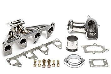 TA technix Acero Inoxidable Turbo - Colector con T25 Brida para Opel Ascona C/Astra F/Calibra/Omega A/Vectra A con C20 NE + c20ze Motores: Amazon.es: Coche ...