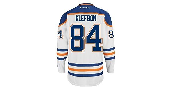 Oscar Klefbom Edmonton Oilers Reebok Premier Away Jersey NHL Replica  Amazon .ca  Sports   Outdoors 4051c8de0