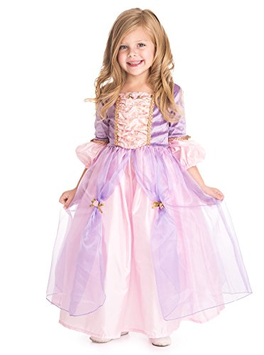 Little Adventures Deluxe Rapunzel Girls Princess Costume - Medium (3-5 Yrs) (Tangled Rapunzel Dress)