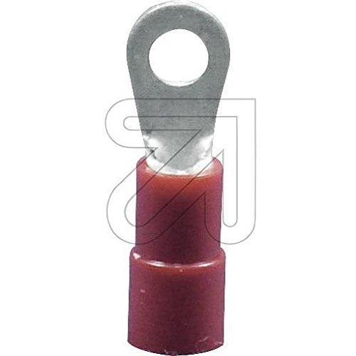 100er Pack Ring-Kabelschuh M4 rot, 1,5mm² EGB