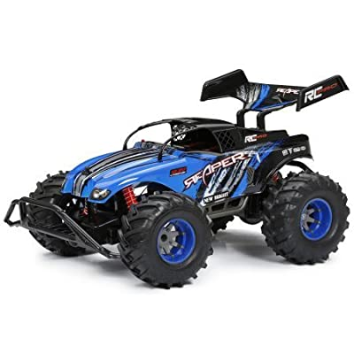 New Bright 1:10 Radio Control Blue Pro Reaper: Toys & Games