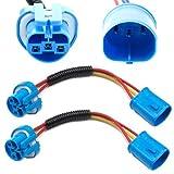 9004 fog light - iJDMTOY (2) 9007 9004 Extension Wire Harness Sockets For Headlights, Fog Lights Retrofit Work Use