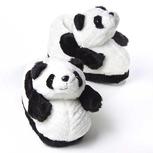 Sleeper'z Hausschuhe Pandabär - Rutschfeste Plüsch Tierhausschuhe