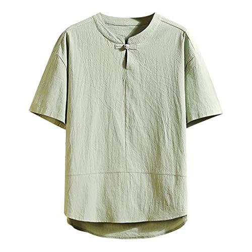 Men's Summer Casual Pure Color Cotton Linen Short