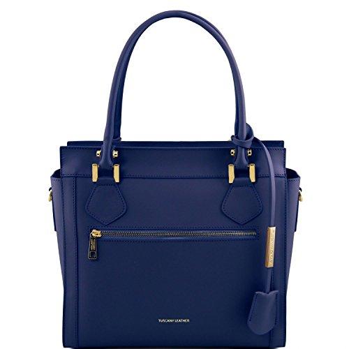 Tuscany Leather Lara Borsa a mano in pelle Ruga con zip frontale - TL141644 (Rosso) Blu Scuro Obtener Nuevos Comprar El Mejor Barato Al Por Mayor V4k5b