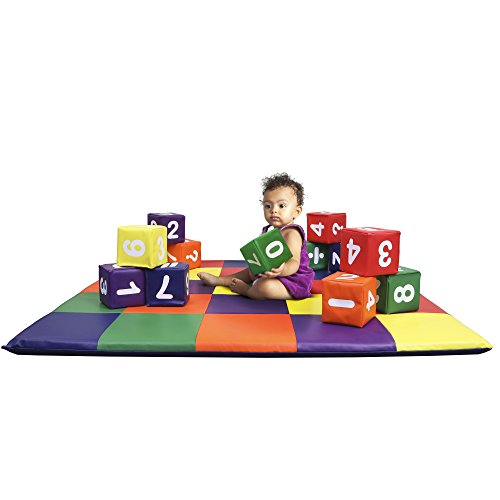 Dream Tree Building Blocks with Numbers [Set of 12] Washable, Non-Toxic CPSIA Compliant Learning Toys Soft Foam Blocks for Toddler, Baby, Kids, and Preschool