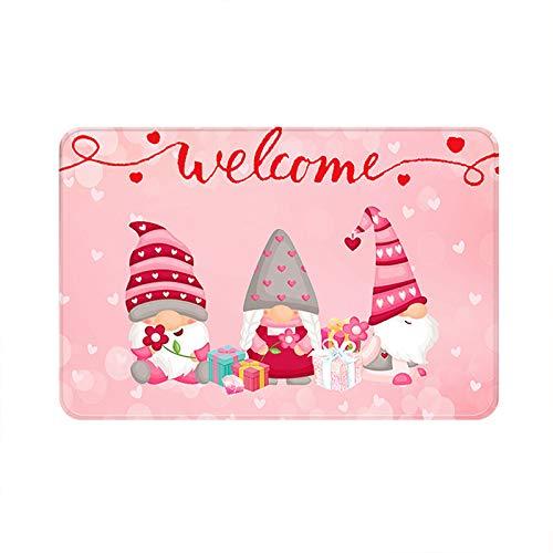 Valentine's Day Welcome Doormats Home Carpets Decor Carpet Living Room Carpet, Bathroom Carpet for Home & Garden(Pink-C)