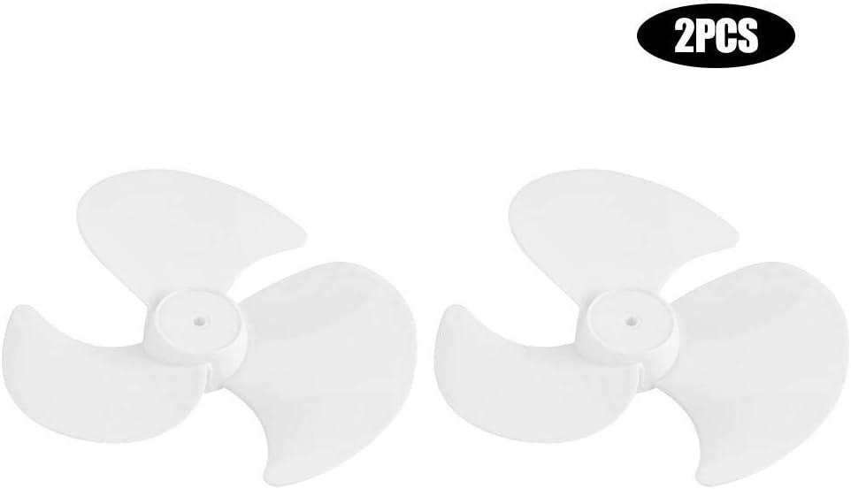 Delaman Pl/ástico 3 Hojas Aspas del Ventilador El/éctrico Accesorios 2 Piezas Aspa del Ventilador