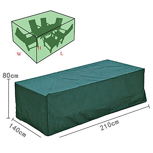 Bluecookies Rectangular Patio Furniture Cover Waterproof Outdoor Table and Ch