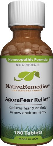 Native Remedies Agorafear Relieves fear & Anxiety in New Environments,  (125 Tablets)