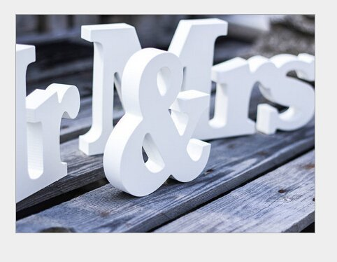 Y&Y Star Mr & Mrs Wooden Letters Wedding Decoration / Lovers