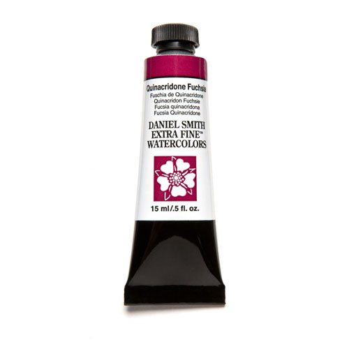 Daniel Smith Series (Daniel Smith Extra Fine Watercolor 15ml Paint Tube, Quinacridone, Fuchsia)
